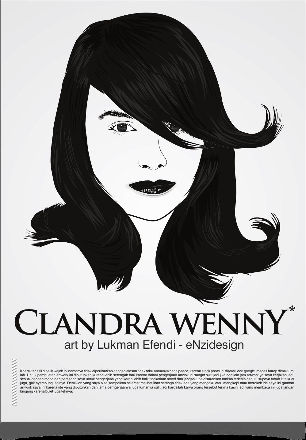 Line Art Wajah : Enzi design vector line art clandra wenny