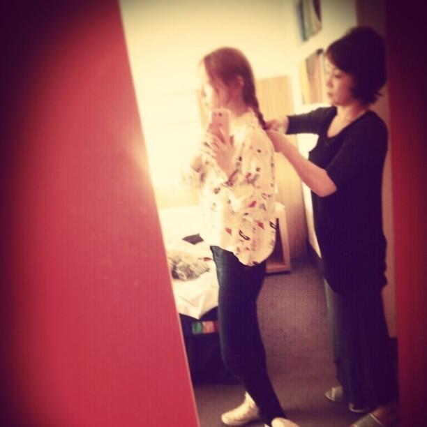 (CAPS) Taeyeon en LD y con su mamá 130424%252Btaeyeon%252Binstagram2