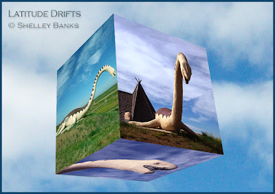 Mo, the Ponteix SK Elasmosaur Plesiosaur - photomontage by Shelley Banks