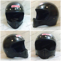 Helm Cakil Replika Simpson M50 Hitam