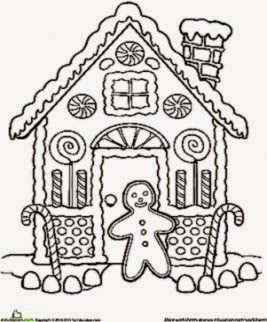 Gingerbread House Coloring Sheet Free Coloring Sheet