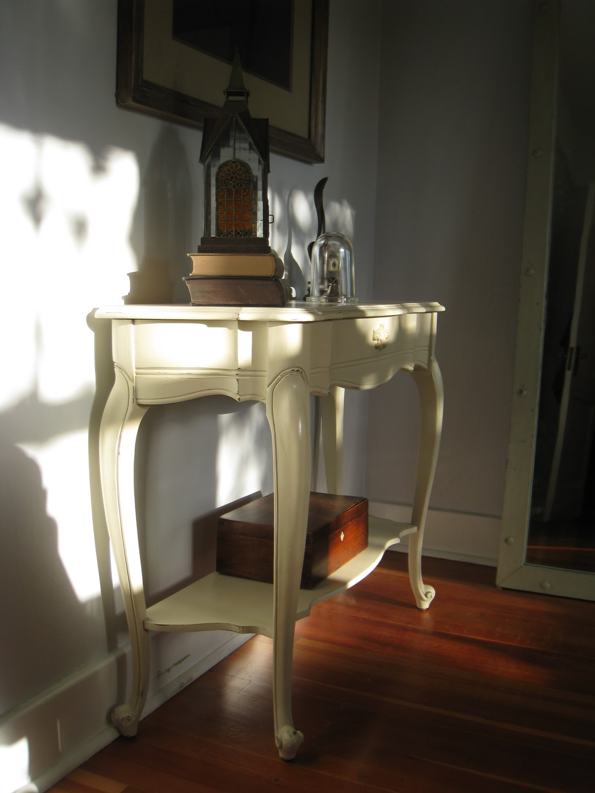 A French Touch: SOLD - Half Moon Accent Table