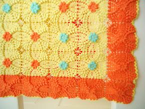 Vintage popcorn square  pattern