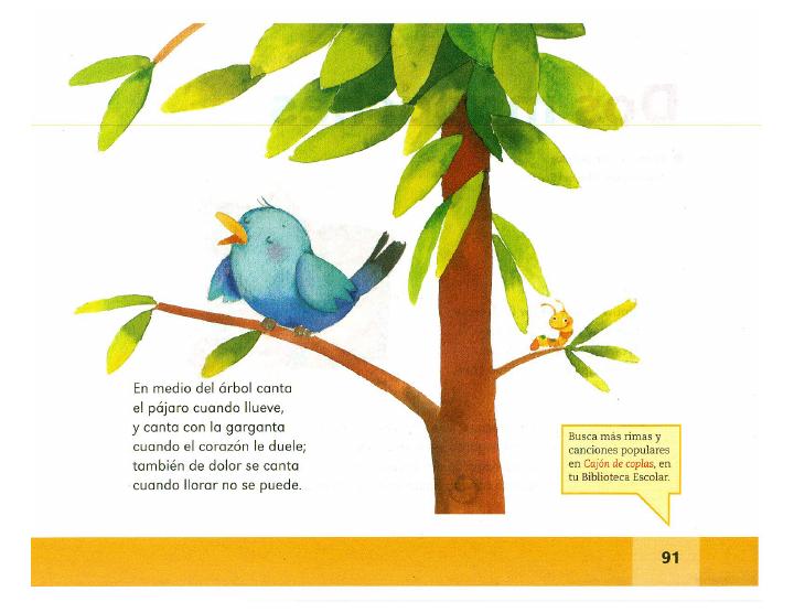 Coplas de animales español lecturas 2do bloque 5/2014-2015