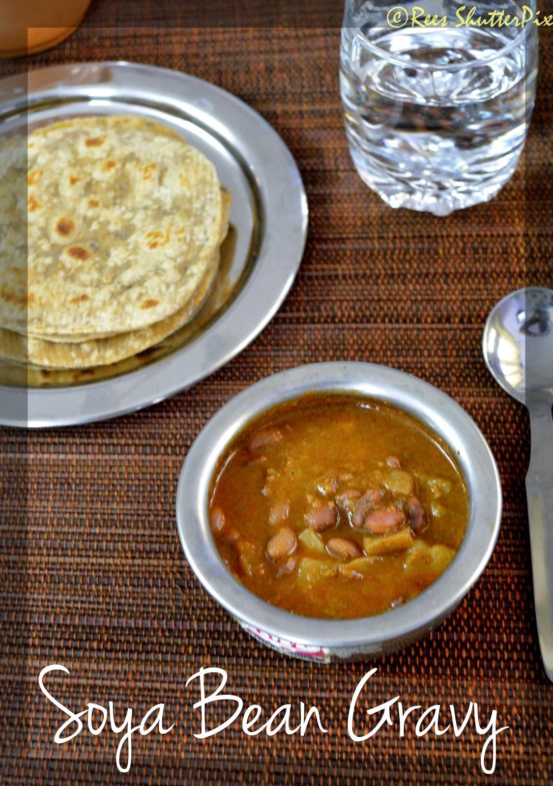 how to make soya beans gravy at home, easy soya beans recipe