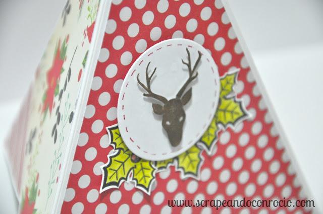 Tutorial Teepee Card Tarjeta Pirámide Scrapbooking