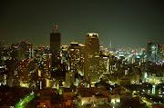 東京夜景 中央から少し右にスカイツリーが見えます。 (bb )