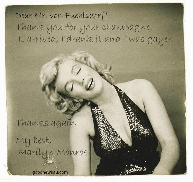 Marilyn Monroe letter