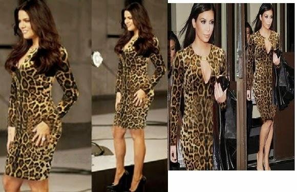 Plus size long sleeve knee length women leopard dress new in 2014