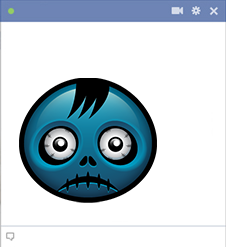 Zombie emoticon for Facebook