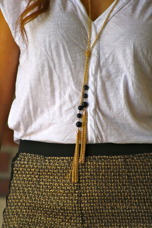 Tassel Necklace | Golden Divine Blog