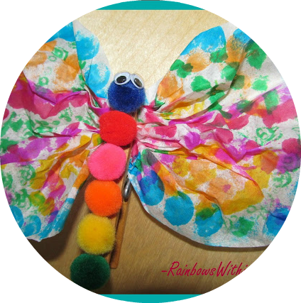 Coffee Filter Butterfly Craft Project via RainbowsWithinReach
