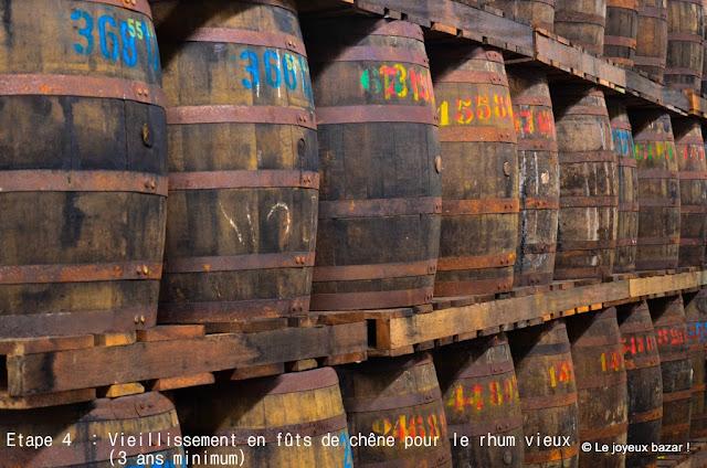 Martinique  - distillerie Depaz- vieillissement du rhum en fûts de chêne