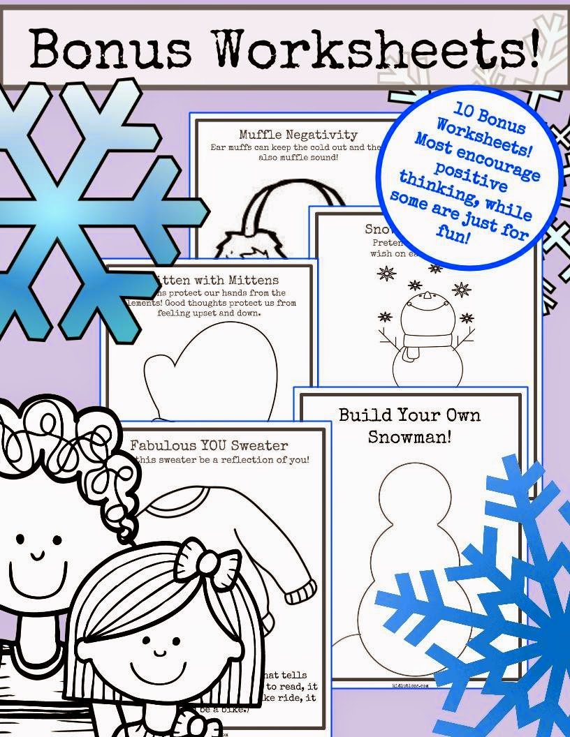 Free Worksheet Confidence Worksheets snowflakes self esteem and confidence a wintry mix of you get 10 bonus worksheets