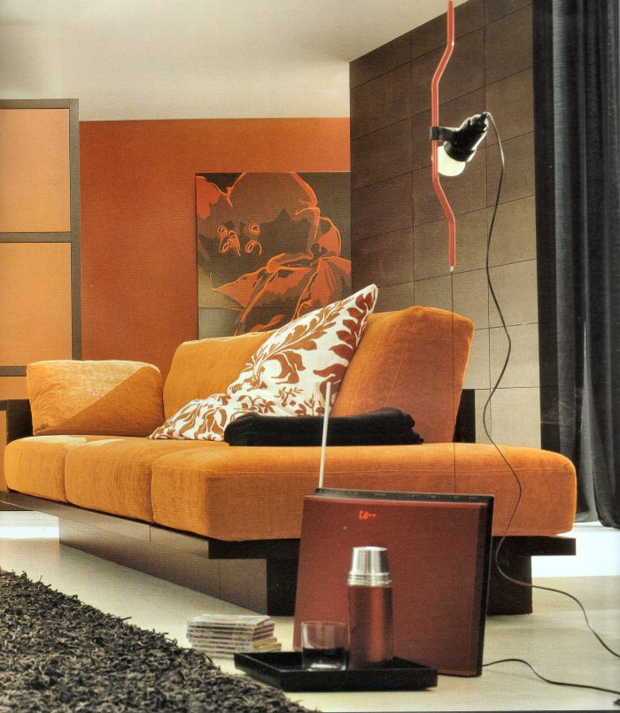 Imbiancare casa idee colori e abbinamenti per imbiancare for Divano rosso abbinamenti