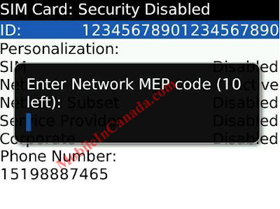 mep blackberry code