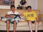 Skye, Pearce and Nikko (the dog)