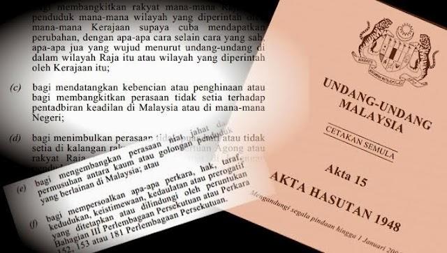 Hak Kebebasan Menipu Ganti Akta Hasutan