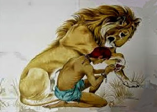 Androclo e il leone con la spina nel piede (Fedro)