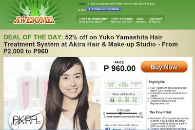 Yuko Yamashita Hair Treatment System at Akira Salon from Awesome.ph