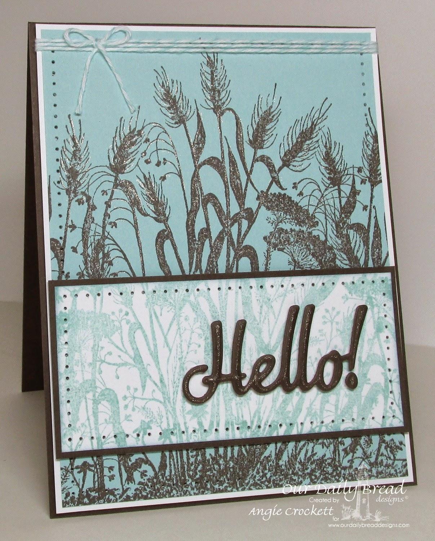 ODBD Wildflower Silhouette Background, ODBD Custom Hello Die, Card Designer Angie Crockett