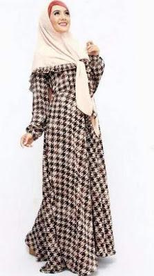 Busana muslim sifon wanita modern image