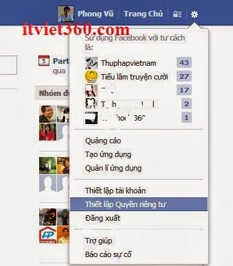 Thiết lập quyền riêng tư, Facebook