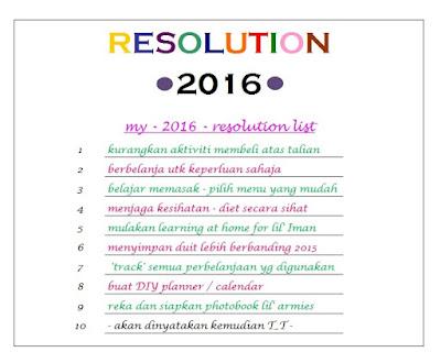 Resolution 2016 yang agak cheapskate dan belum tentu akan tercapai T_T