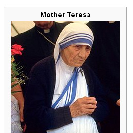 astro databank Teresa Mother