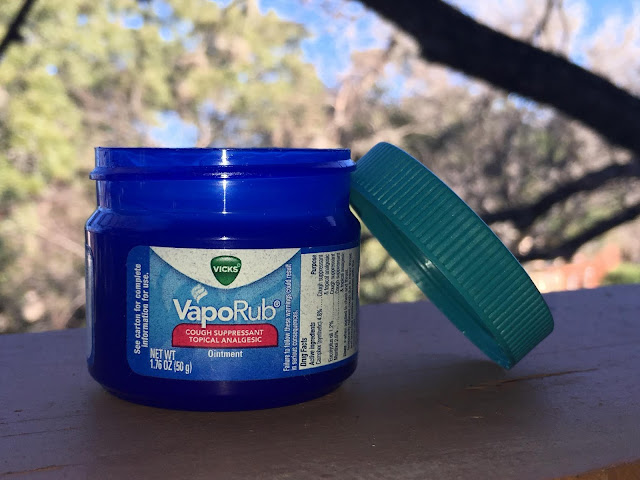 Nothing better for a cold than vicks vaporub erica 39 s walk for Putting vicks on the bottom of your feet