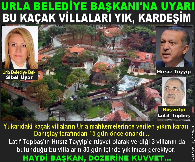 HIRSIZ TAYYİP'İN KAÇAK VİLLALARI YAKINDA YIKILACAK