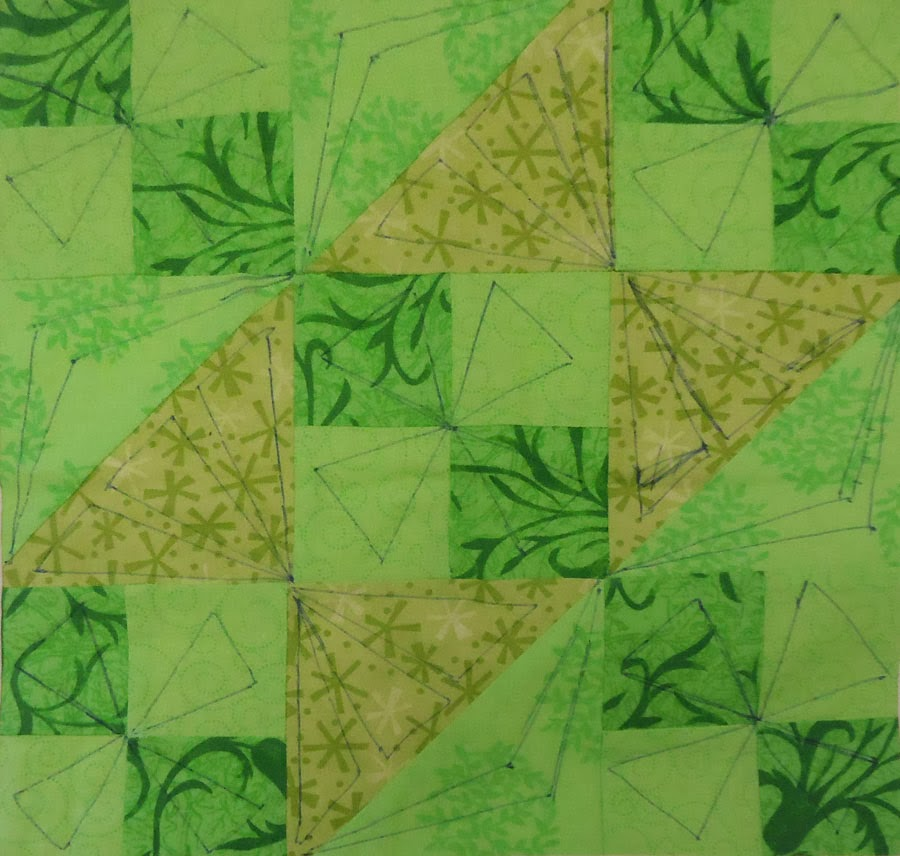 Marked lime green block