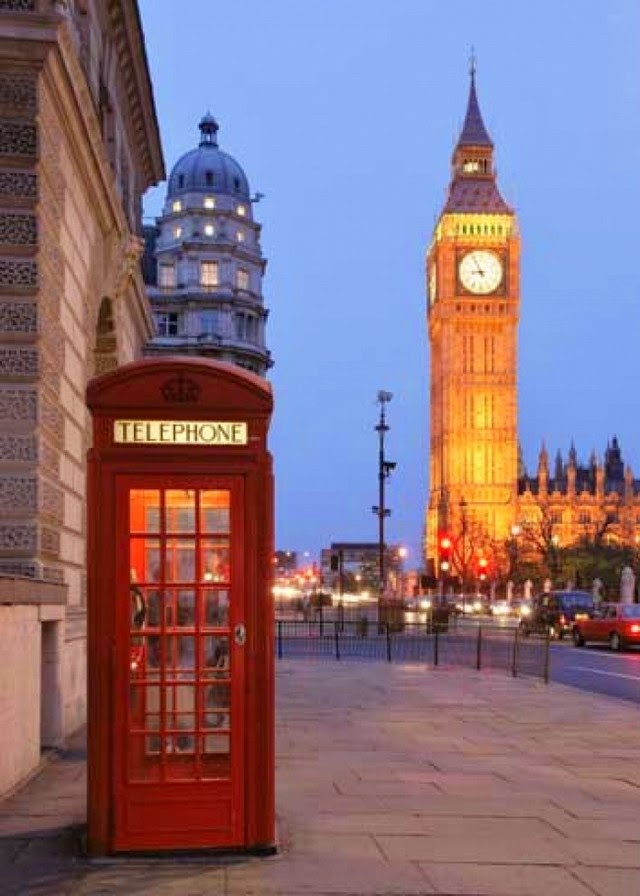big ben with red telephone booth in london uk