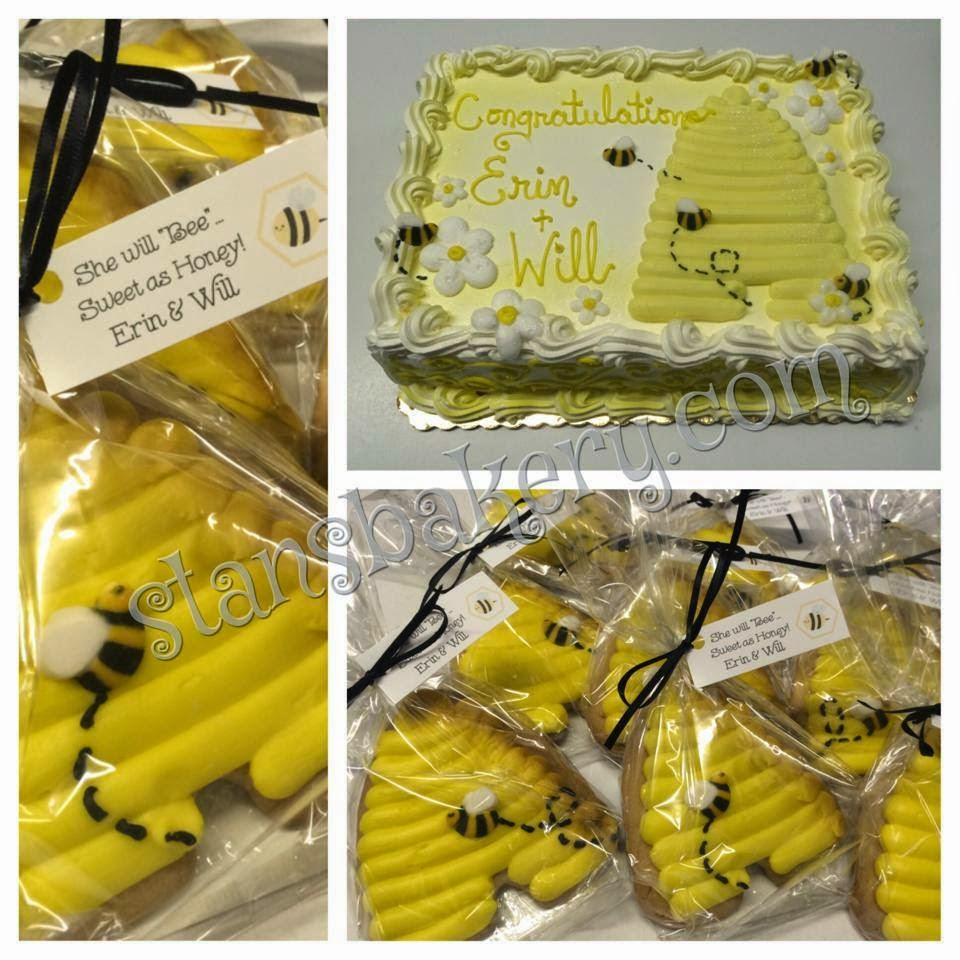 Bumble Bee Baby Shower Cake And Cookie