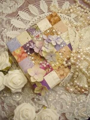 Doos met patchwork en kralen