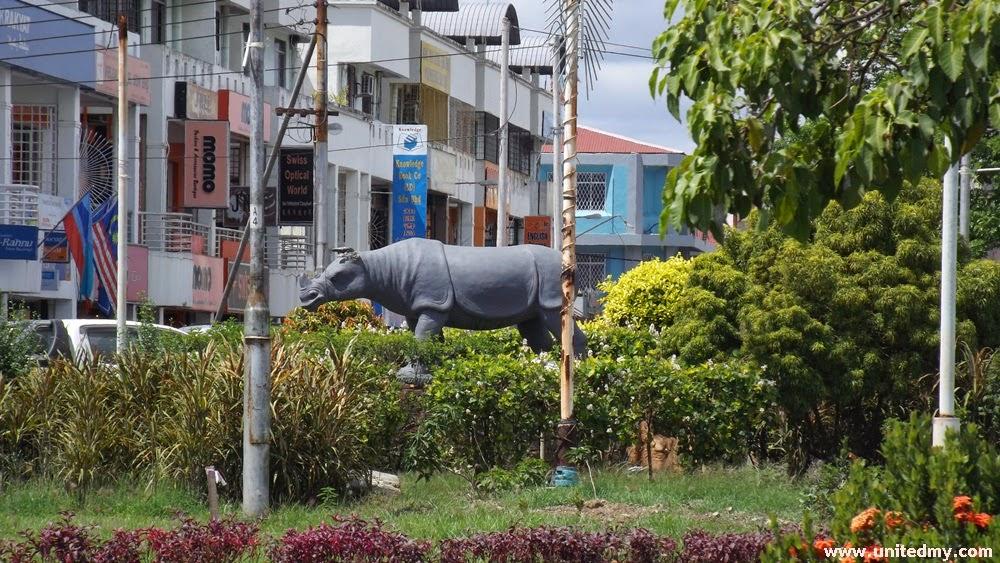 Lahad Datu Sumatran Rhino statue