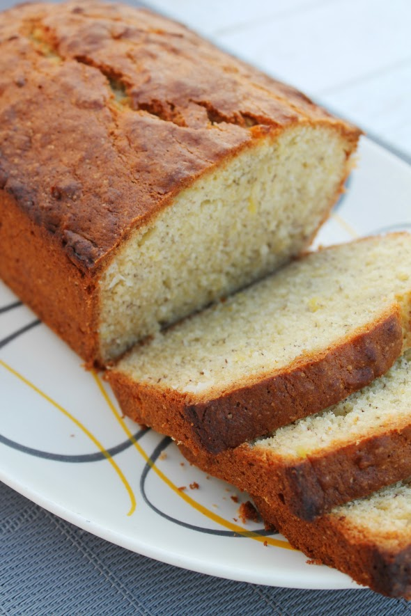Pineapple Coconut Banana Bread - twist on the classic - WhatchaMakinNow.com