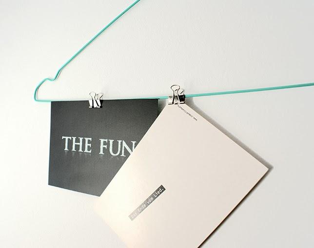 Ynas Design Blog, DIY, Kleiderbügel, Bilderhalter