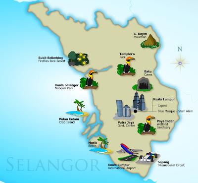 Tempat Menarik Dan Percutian Di Selangor