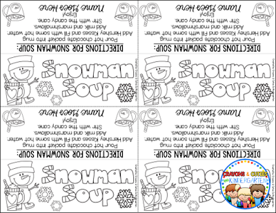 picture about Free Printable Snowman Soup Labels called Crayons Cuties Inside Kindergarten: Snowman Soup