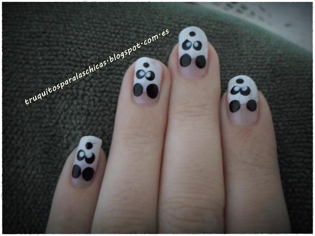 manicura de oso panda