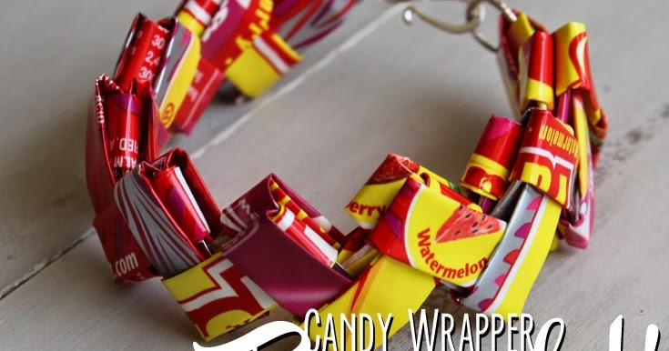 CANDY WRAPPER Starburst Wrapper Link Bracelet!