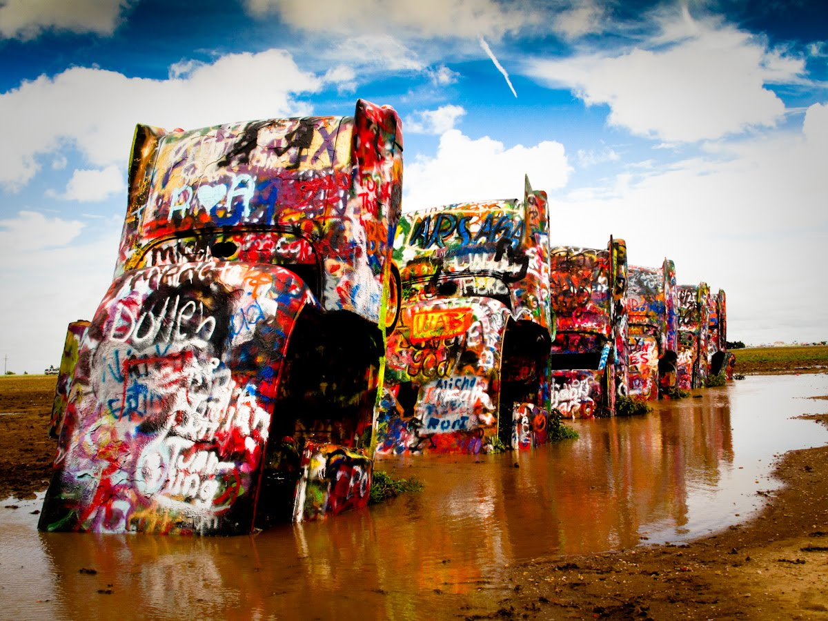 pixelation daily cadillac ranch old route 66 outside of amarillo tx. Cars Review. Best American Auto & Cars Review