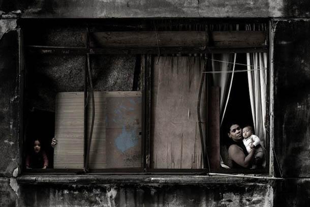 In a Window of Prestes Maia 911 Building - Julio Bittencourt