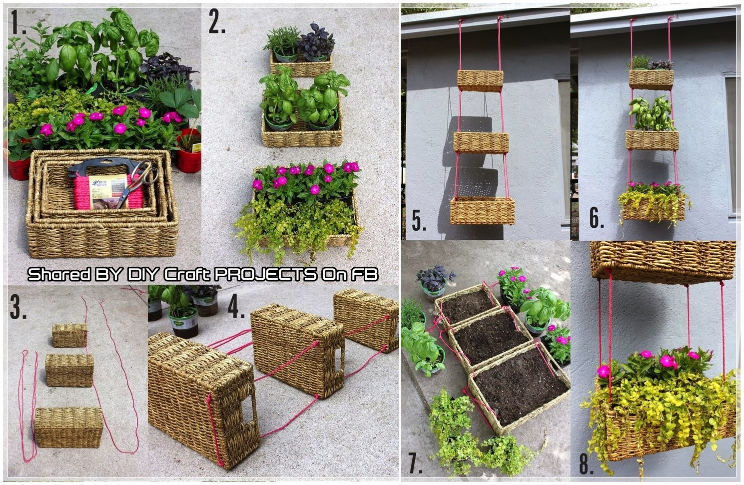 diy garden hanging basket diy craft projects. Black Bedroom Furniture Sets. Home Design Ideas