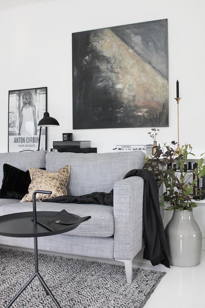 Decoraci n f cil un salon en gris y negro - Salones en tonos grises ...