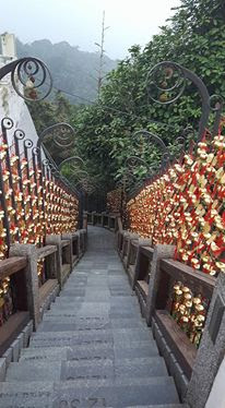 Year of Steps at Wenwu Temple, Sun Moon Lake