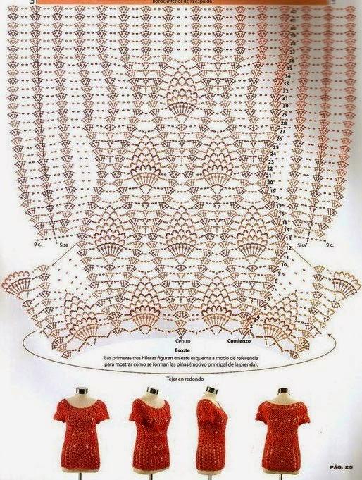 REMERA A CROCHET CON CANESU Y PIÑA | Patrones Crochet, Manualidades ...