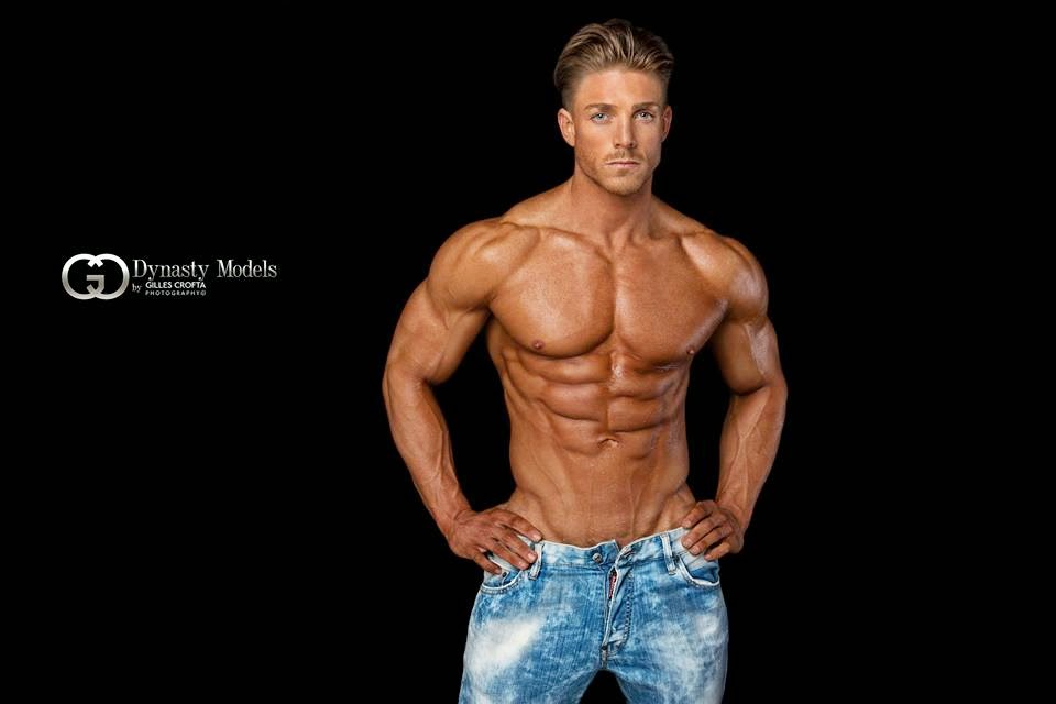 aesthetic muscle, bodybuilder, George Ball, great abs, male fitness ...
