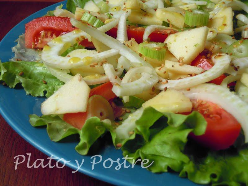Como Cocinar Hinojo   Plato Y Postre Ensalada De Hinojo Y Manzana Recetas De Cocina Con
